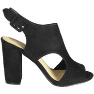 Doreen Black Slingback Party Sandals