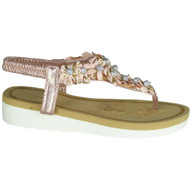 Dorris Champagne Summer Slingback Toe Post Sandals