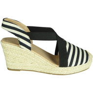 Dorothea Black Espadrilles Summer Sandals