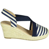 Dorothea Blue Espadrilles Summer Sandals