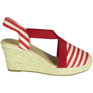 Dorothea Red Espadrilles Summer Sandals