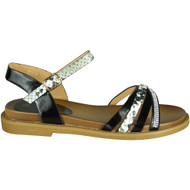 Dolly Black Snake Print New Summer Sandals