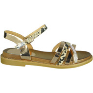 Dolly Champagne Snake Print New Summer Sandals