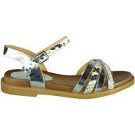 Dolly Silver Snake Print New Summer Sandals