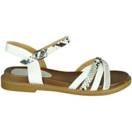 Dolly White Snake Print New Summer Sandals