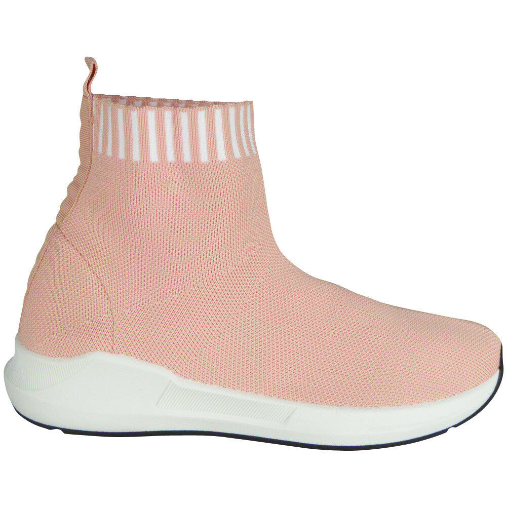 Edna Pink Trainers Socks Fitness Shoes