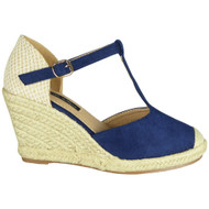 Elaine Blue Espadrilles Summer Sandals