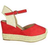 Alaine Red Espadrilles high Heel Sandals