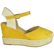 Alaine Yellow Espadrilles high Heel Sandals