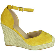 Lainie Yellow Espadrilles High Heel Summer Sandals