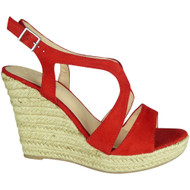 Eleonora Red Espadrilles High Heel Sandals