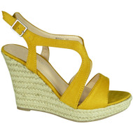 Eleonora Yellow Espadrilles High Heel Sandals