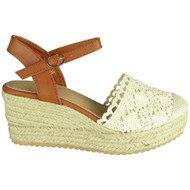 Elvine Beige Espadrilles High Heel Sandals