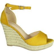 Elvie Yellow Espadrilles High Heel Sandals