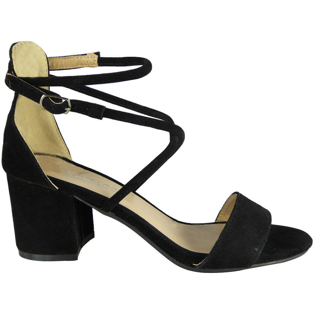 Elena Black Party Wedding Going Out Sandals