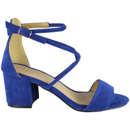 Elena Blue Party Wedding Going Out Sandals