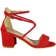 Elena Red Party Wedding Going Out Sandals
