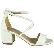 Elena White Party Wedding Going Out Sandals
