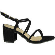 Lally Black Party Wedding Going Out Sandals