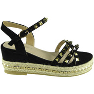 Gabriella Black Espadrilles Summer Sandals