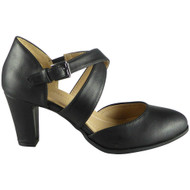 Josey Black Mary Jane Comfy Sandals