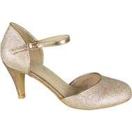 Julie Champagne Party Glitter Closed Toe Sandals
