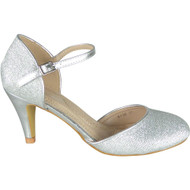 Julie Silver Party Glitter Closed Toe Sandals