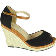 Katrina Black Summer High Heel Sandals