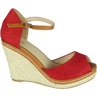 Katrina Red Summer High Heel Sandals
