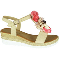 Kate Beige Summer Hessian Sandals