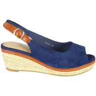Kathlyn Blue Slingback Espadrille Sandals