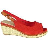Kathlyn Red Slingback Espadrille Sandals