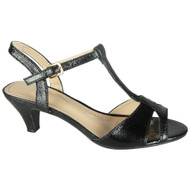 Kellie Black Party Shiny Wedding Sandals