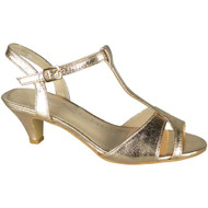 Kellie Champagne Party Shiny Wedding Sandals