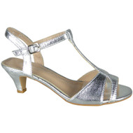 Kellie Silver Party Shiny Wedding Sandals