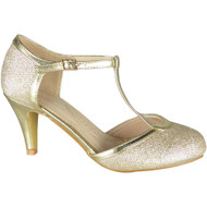 Kelley Gold Party Glitter Wedding Sandals