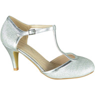 Kelley Silver Party Glitter Wedding Sandals