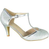 Kelley Silver Party Glitter Wedding Sandals
