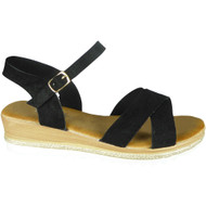 Kristy Black Summer Comfy Sandals