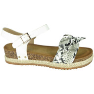Krista Snake Summer Comfy Hessian Sandals