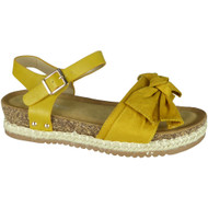 Krista Yellow Summer Comfy Hessian Sandals