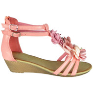 Laurie Pink Gladiator Zip Summer Sandals