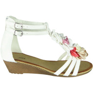Laurie White Gladiator Zip Summer Sandals