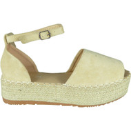 Laureen Beige Peep Toe Summer Sandals