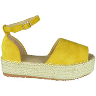 Laureen Yellow Peep Toe Summer Sandals