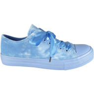 Leona Baby Blue Velvet Ribbon Fitness Shoes