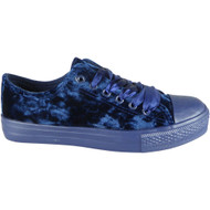 Leona Navy Velvet Ribbon Fitness Shoes