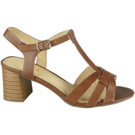 Lenora Brown T-Bar Summer Casual Sandals