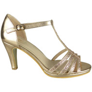 Leonora Champagne Wedding Bridal  Party Sandals