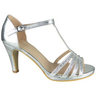 Leonora Silver Wedding Bridal  Party Sandals
